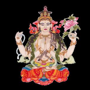 Éric Bolduc, Avalokiteshvara, 2011, feutre et aquarelle sur papier